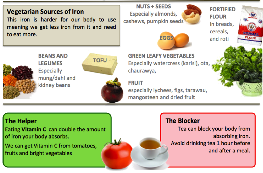 Iron and Protein Sources
