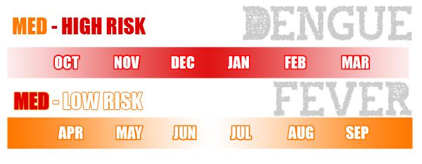 Dengue Fever Risk Months